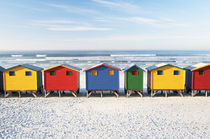 Beach Huts at Dawn Muizenberg, South Africa by Neil Overy