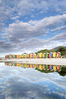 Colorful Beach Huts at St. James, South Africa von Neil Overy