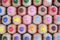 Macro Photograph of the Tips of Colored Pencils von Neil Overy