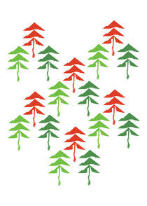 red and green trees von thomasdesign