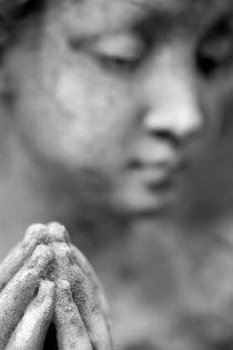 Statue with Hands in Prayer by Neil Overy