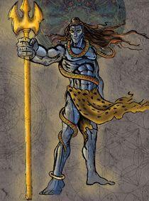 Shiva the warrior von kingshuk-chaudhary