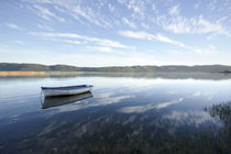 Row Boat on Knysna Lagoon, South Africa by Neil Overy