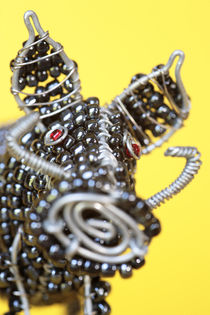 African Beaded Wire Warthog by Neil Overy