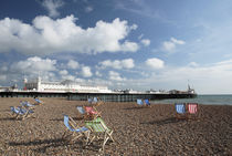 Deckchairs on Brighton Beach by Neil Overy