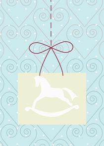 christmas swirl and horse von thomasdesign