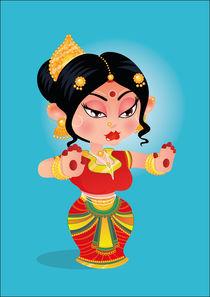 Dance, Bharatanatyum von Pritpal Singh