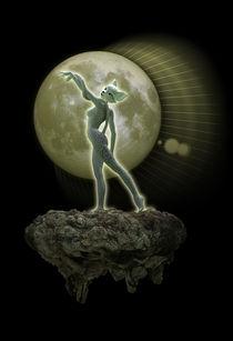 Kitten in Moonlight by Kristy Gilbert