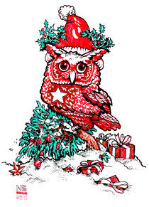 Xmas Owl by Nigel Sussman