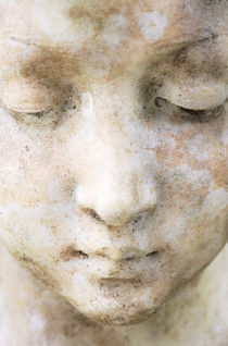 Sombre Face of Stone Statue von Neil Overy