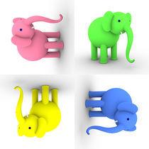 Mixed Elephants von dresdner