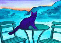 Purple cat by michaba