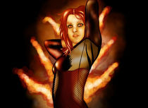 Fire comic girl by mckenna