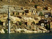minaret under the water by Beste Sabir