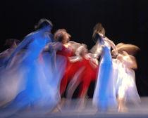 dance blue/white von Sylwia Olszewska