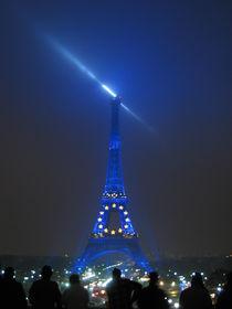 Eiffel Tower  by night by Azzurra Di Pietro