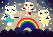 Rainbow Cat Angel by Nimas Arum
