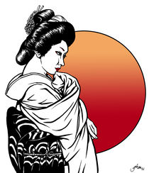 Geisha at Sunset by Gloria Manderfeld