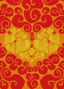 Love Birds in orange by Ivancka Kroell
