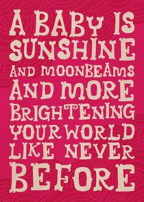 Sunshine & Moonbeams in pink von Ivancka Kroell