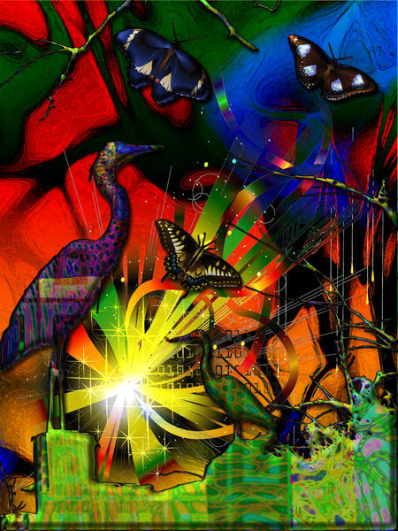 Source-code-heron-butterfly-abstract