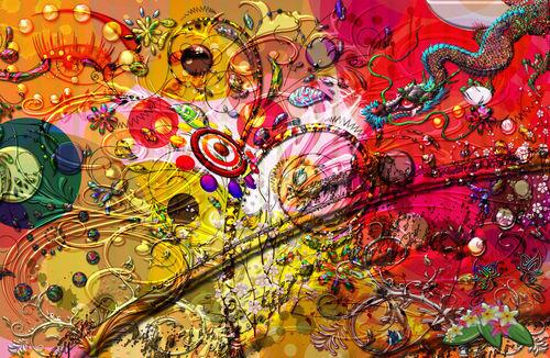 Dragon-eyes-swirling-pattern-collage