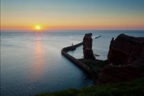 Lange Anna, Helgoland – Sonnenuntergang von Thomas Mertens