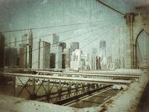 Brooklyn Bridge, Downtown New York City von Stacey Duncan