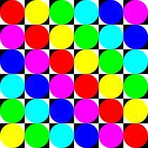 color circles on chessboard von Chandler Klebs