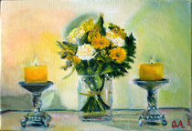 Flowers and Candles by Oscar Andersson