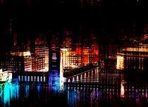 stuttgart city bei nacht I  - stuttgart city at night I   von augenwerk