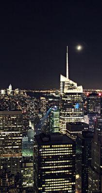 NYC Skyline with moon von Ines Schäfer