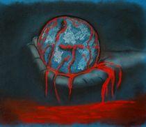 """Pastellbild """"Die Welt in Menschenhand"""" von Anke Franikowski"""