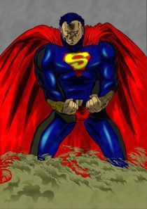 dark Superman by zeddero