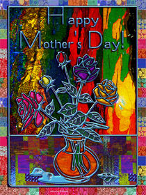 Happy Mothers Day Floral Abstract by Blake Robson