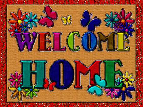 printable welcome home sign