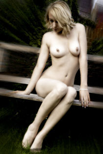 Nude on Garden Seat by lantier