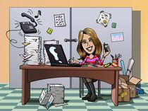 Busy employee von William Rossin