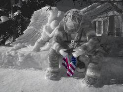 Remembering911-snowsculpture