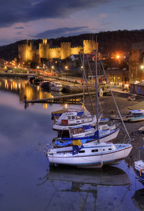 Conwy Castle and Boats von tgigreeny