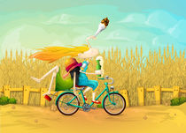 Girl-with-bicyle
