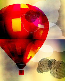 Red hot air baloon by Dolores Salomon