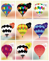 Hot air balloon stamps von Dolores Salomon