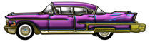 Purple & Blue Classic Car with Finns  von Blake Robson