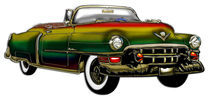 Classic Convertible Cadillac Digital Rainbow Designer Finish by Blake Robson