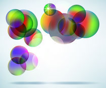 Floating colorful orbs by blojfo