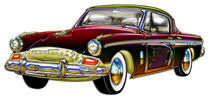 Classic Custom Studebaker Designer Finish, Trim and Dragon Graphic von Blake Robson