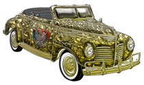 Classic Plymouth Custom Gold Convertible by Blake Robson