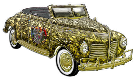 Classic-plymouth-custom-gold-convertible