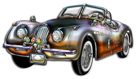 Convertible-classic-metallic-sports-car
